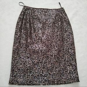 Lafayette multi color sequins pencil skirt